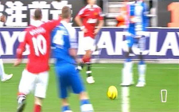 Rooney's elbow on James McCarthy