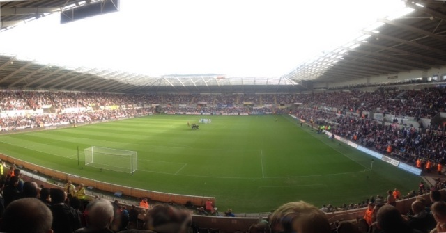 Swansea City V Wigan Athletic 20 Oct 2012
