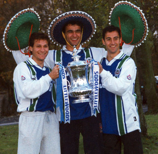 The Three Amigos with FA Cup
