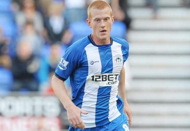 Wigan's Ben Watson suffered a broken leg