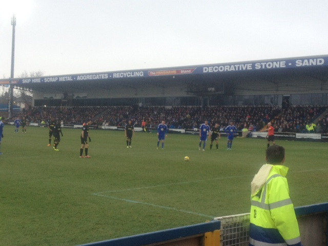 Jordi Gomez prepares to take the winning penalty at Macclesfield