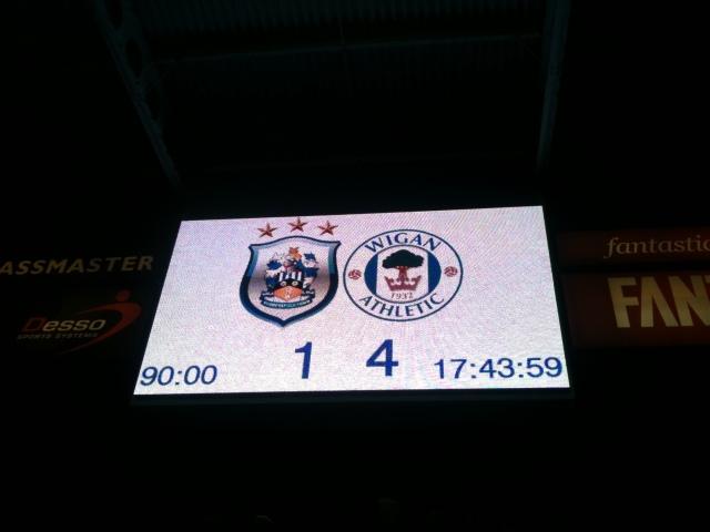 Huddersfield town Scoreboard