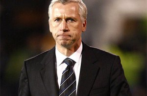 Alan Pardew in serious mode