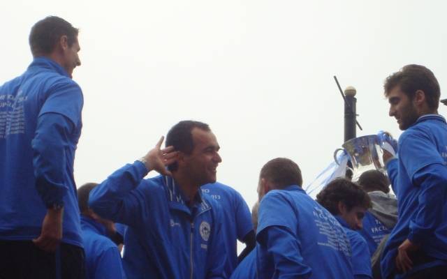 Roberto Martinez at the FA Cup Parade