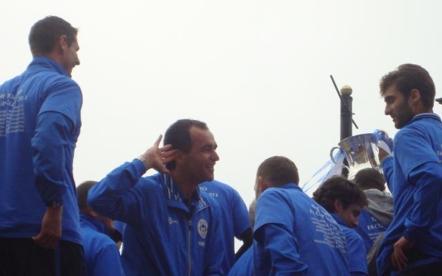 Roberto Martinez at the FA Cup Parade