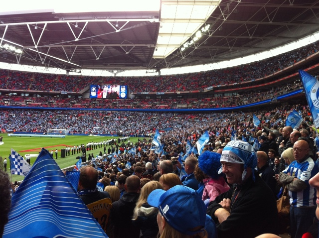 Wigan fans at the FA Cup Fina