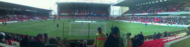View form the away end