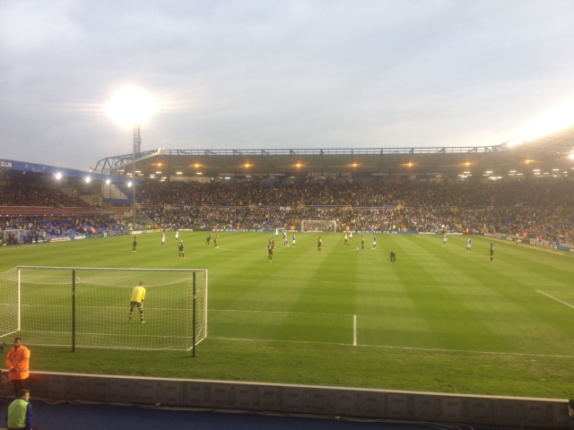 View from the away end at St Andrew's