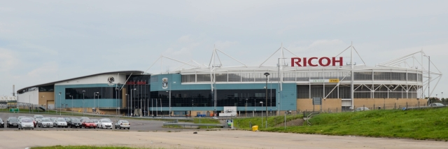 Coventry City's Ricoh Arena. Photograph by Jez Sutton