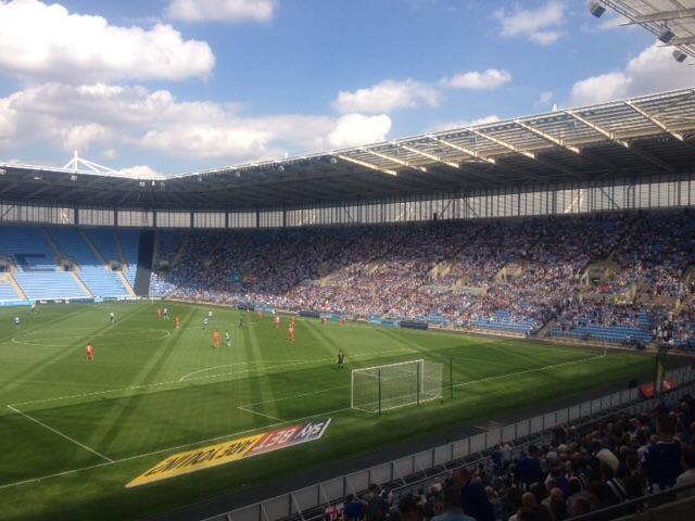Blue Sky over the Ricoh Arena