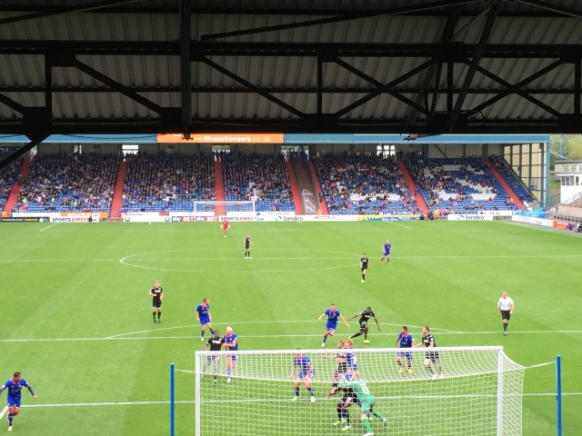 Oldham Athletic versus Wigan Athletic