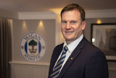 Wigan Athletic Chairman Darren Royle