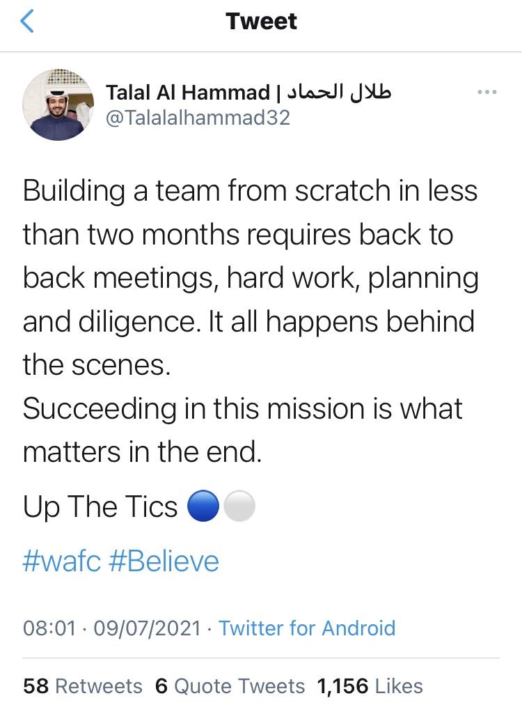 Talal tweet